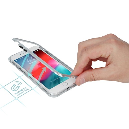Magnetna torbica za Samsung S10e srebrna