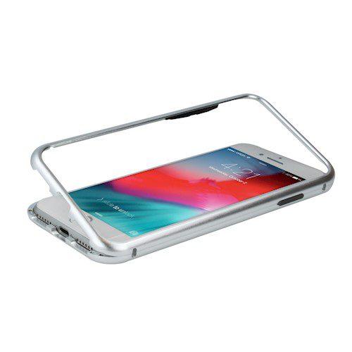 Magnetic case for Xiaomi Redmi Note 7 silver
