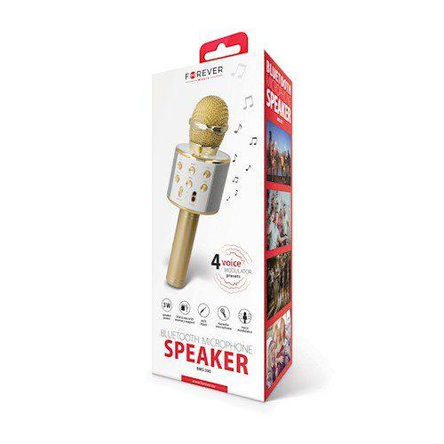 Forever BMS-300 mikrofon s bluetooth zvučnikom zlatni