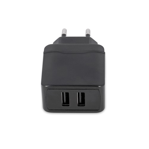 Maxlife zidni punjač MXTC-02 2xUSB brzo punjenje 2.4A crni