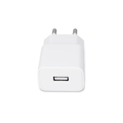 Maxlife zidni punjač MXTC-01 USB brzo punjenje 2.1A + 8-PIN kabel bijeli
