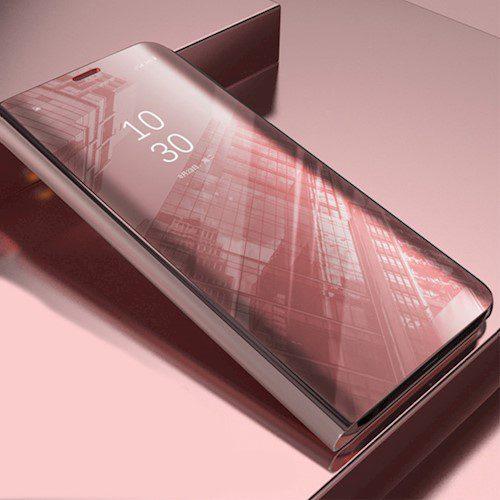 Smart Clear View torbica za Huawei P40 Pro roza