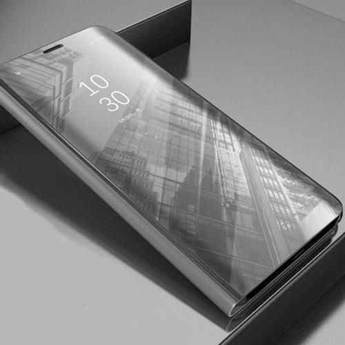 Smart Clear View torbica za Huawei P40 Pro srebrna
