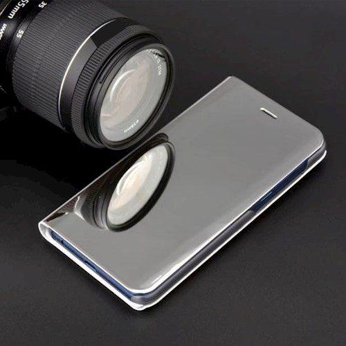 Smart Clear View torbica za Xiaomi Redmi Note 9 srebrna