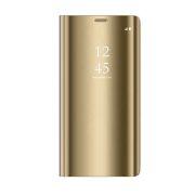 Smart Clear View torbica za Huawei P40 Lite E / Huawei Y7P zlatna