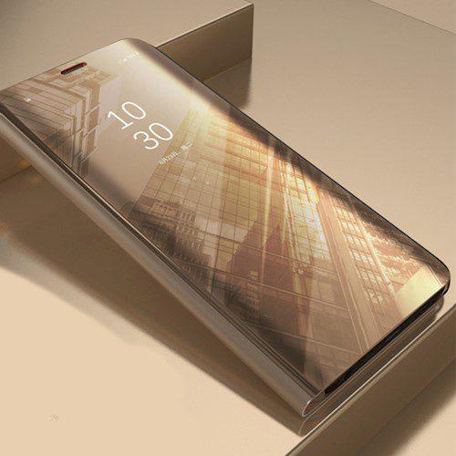 Smart Clear View torbica za Huawei P40 Pro zlatna