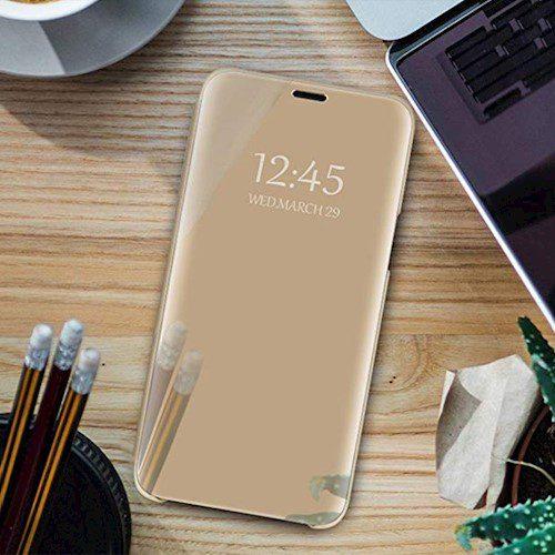 Smart Clear View torbica za Xiaomi Redmi 9A / Redmi 9AT/ 9i zlatna