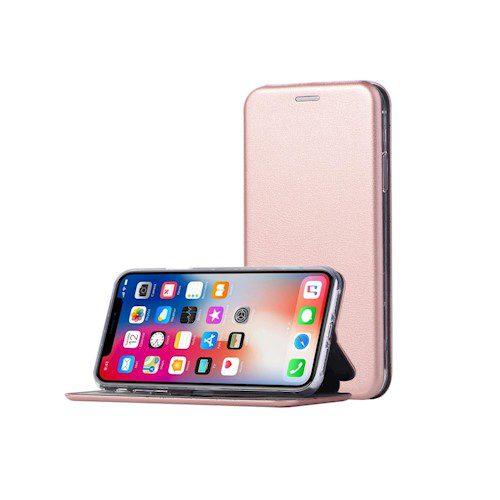 Smart Diva torbica za Xioami Redmi Note 9 rozo-zlatna