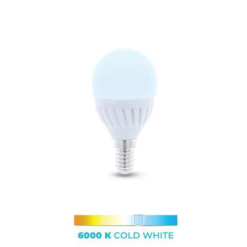 LED žarulja E14 G45 10W 230V 6000K 900lm ceramic Forever Light