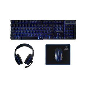 Rebeltec žični gaming set tipkovnica + slušalice + miš + podloga za miša Sherman