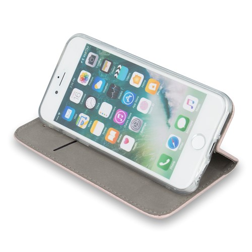 Smart magnetna torbica za Huawei P40 Lite E / Huawei Y7P rozo-zlatna