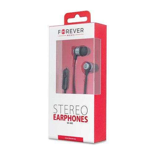 Forever žične slušalice za uši SE-400 crne
